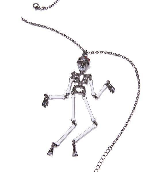 Bone Yard Skeleton Necklace