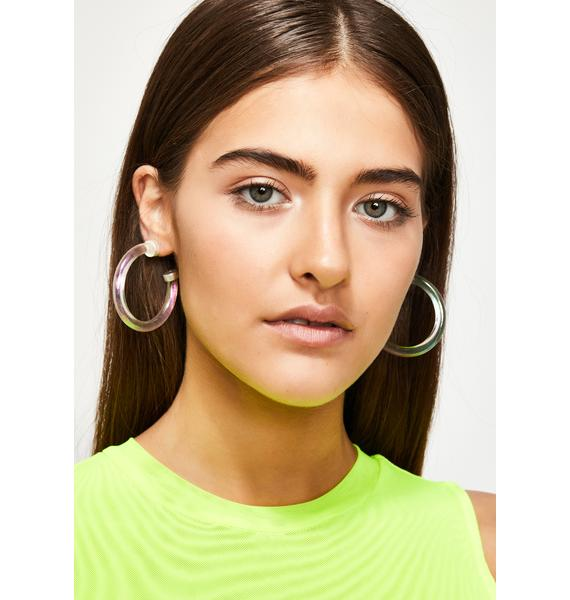 Stardust Shine Holographic Hoops