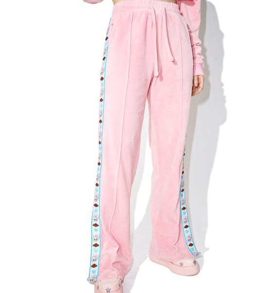 Lazy Oaf Esther Loves Oaf Heart Popper Pants