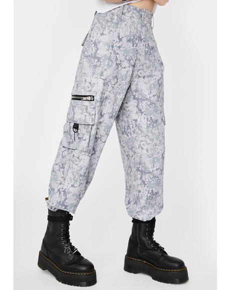 Grey Camo Matira Cargo Pants