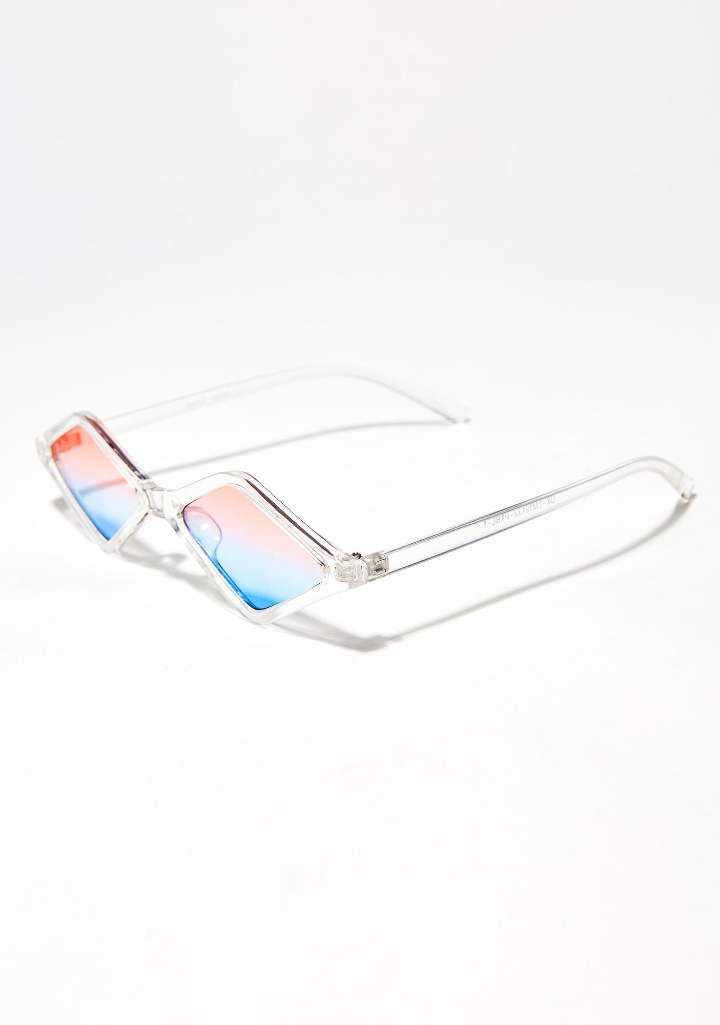 Diamond In The Ruff Two-Tone Sunglasses