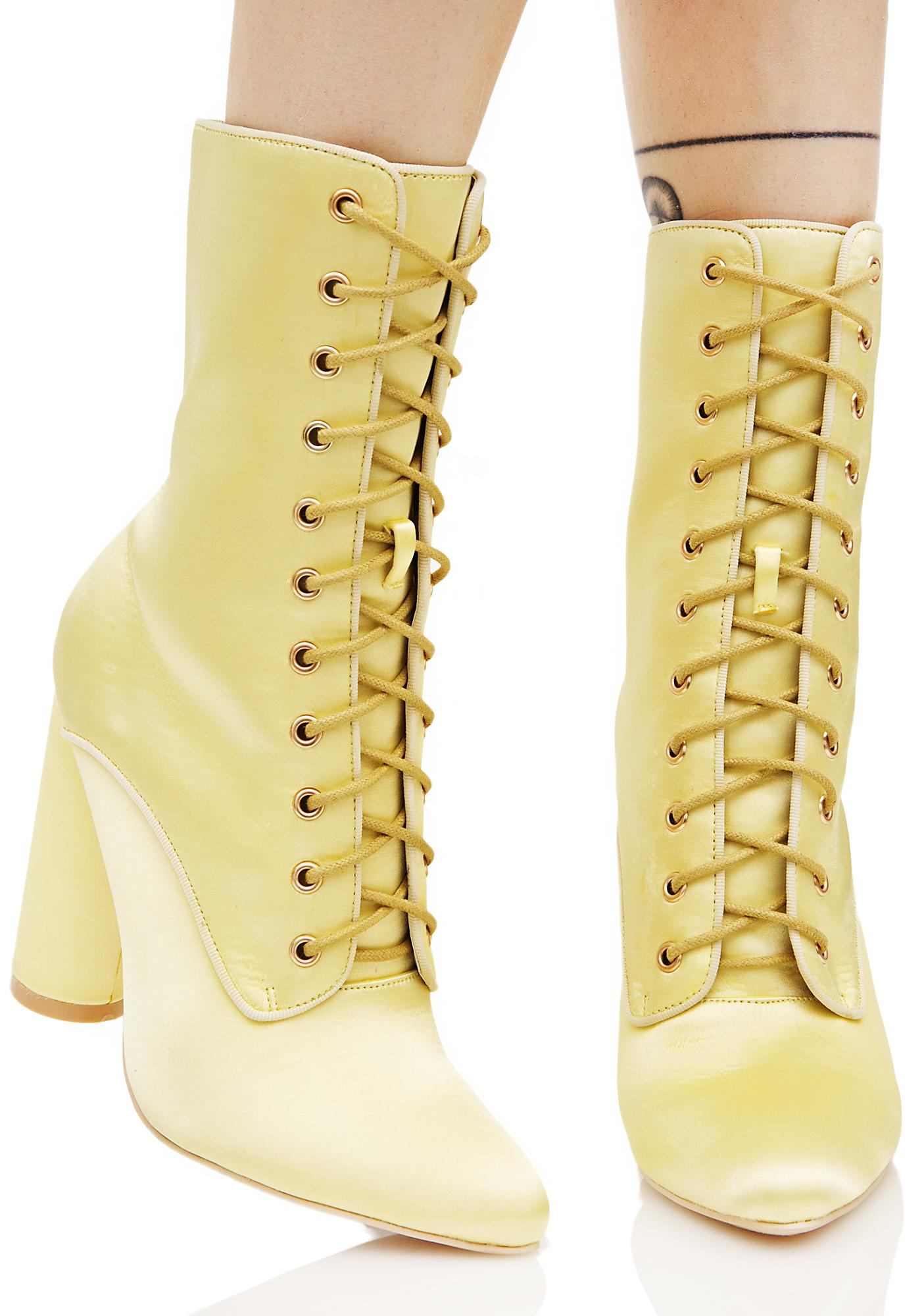Sunny So Posh Lace-Up Boots
