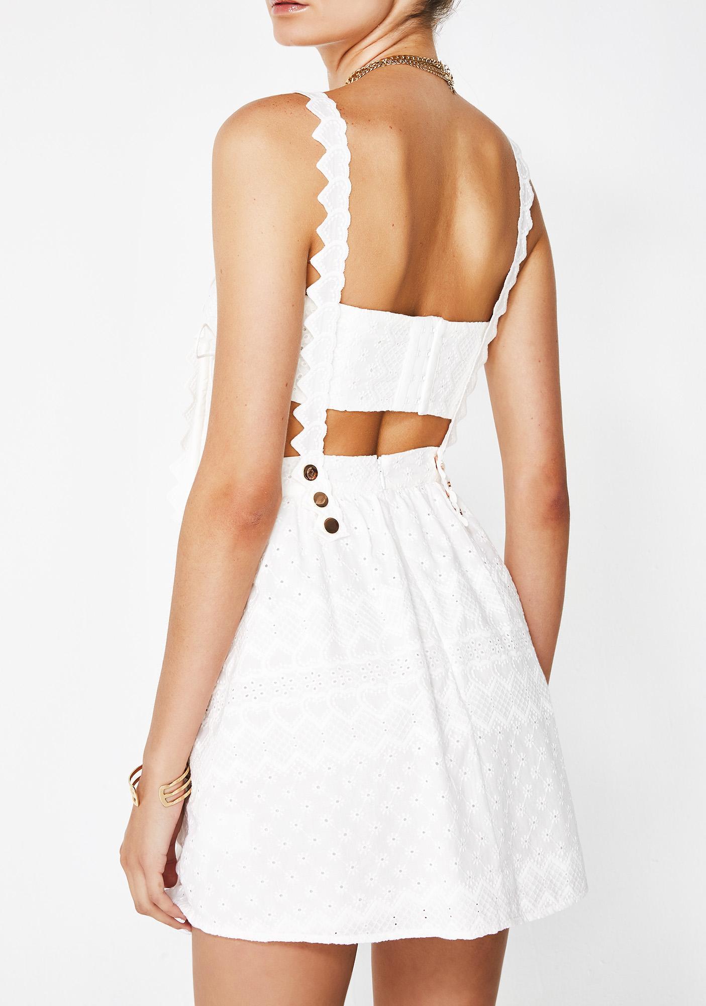 8f441146d66 ... For Love   Lemons Charlotte Eyelet Overalls Mini Dress