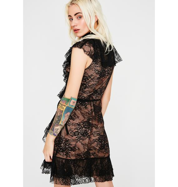 Love Like This Lace Wrap Dress