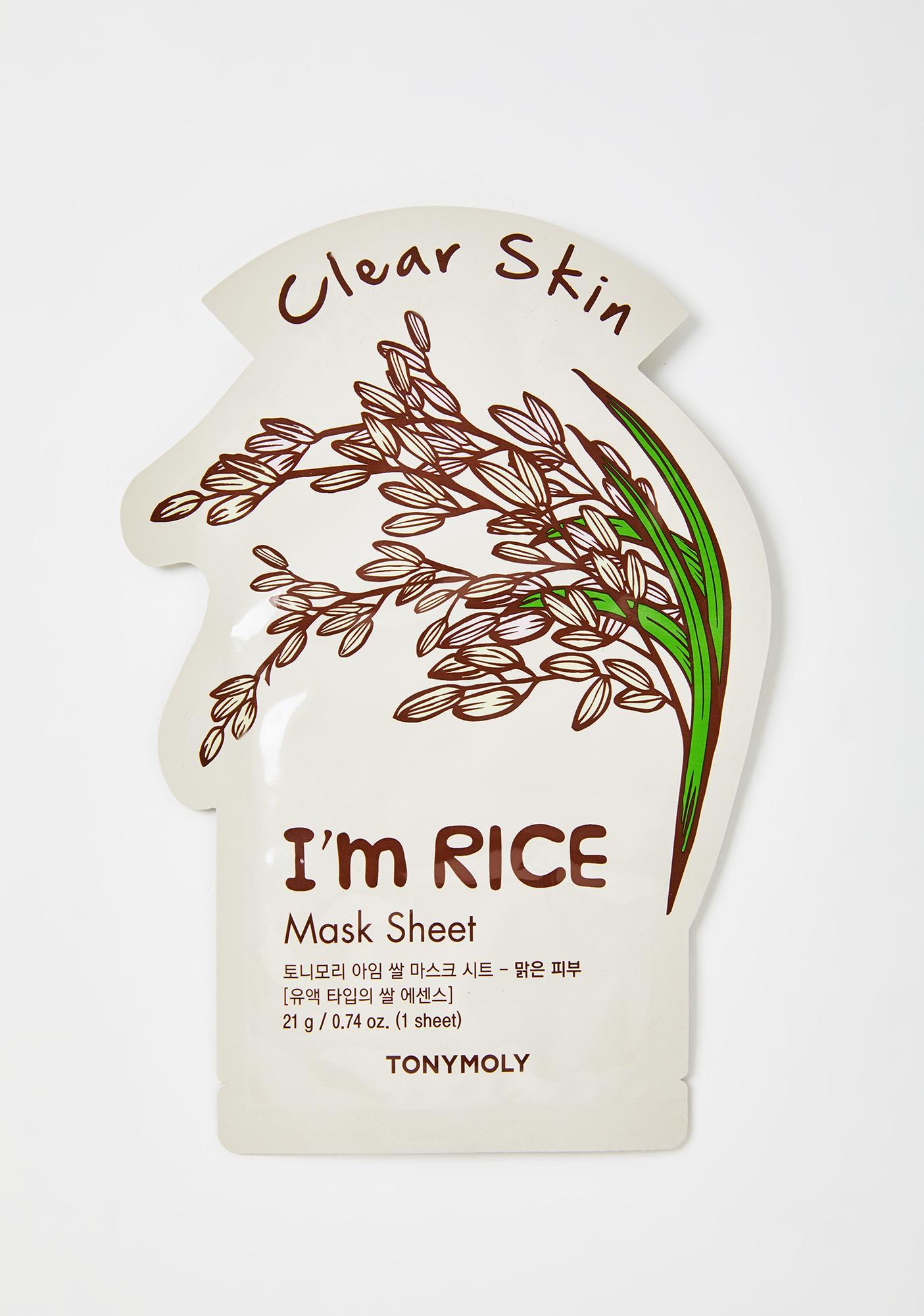 TONYMOLY Rice I'm Real Sheet Mask