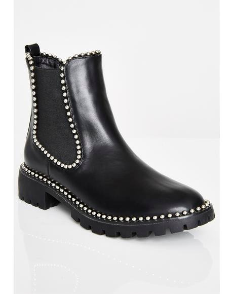Raided Treasure Studded Boots