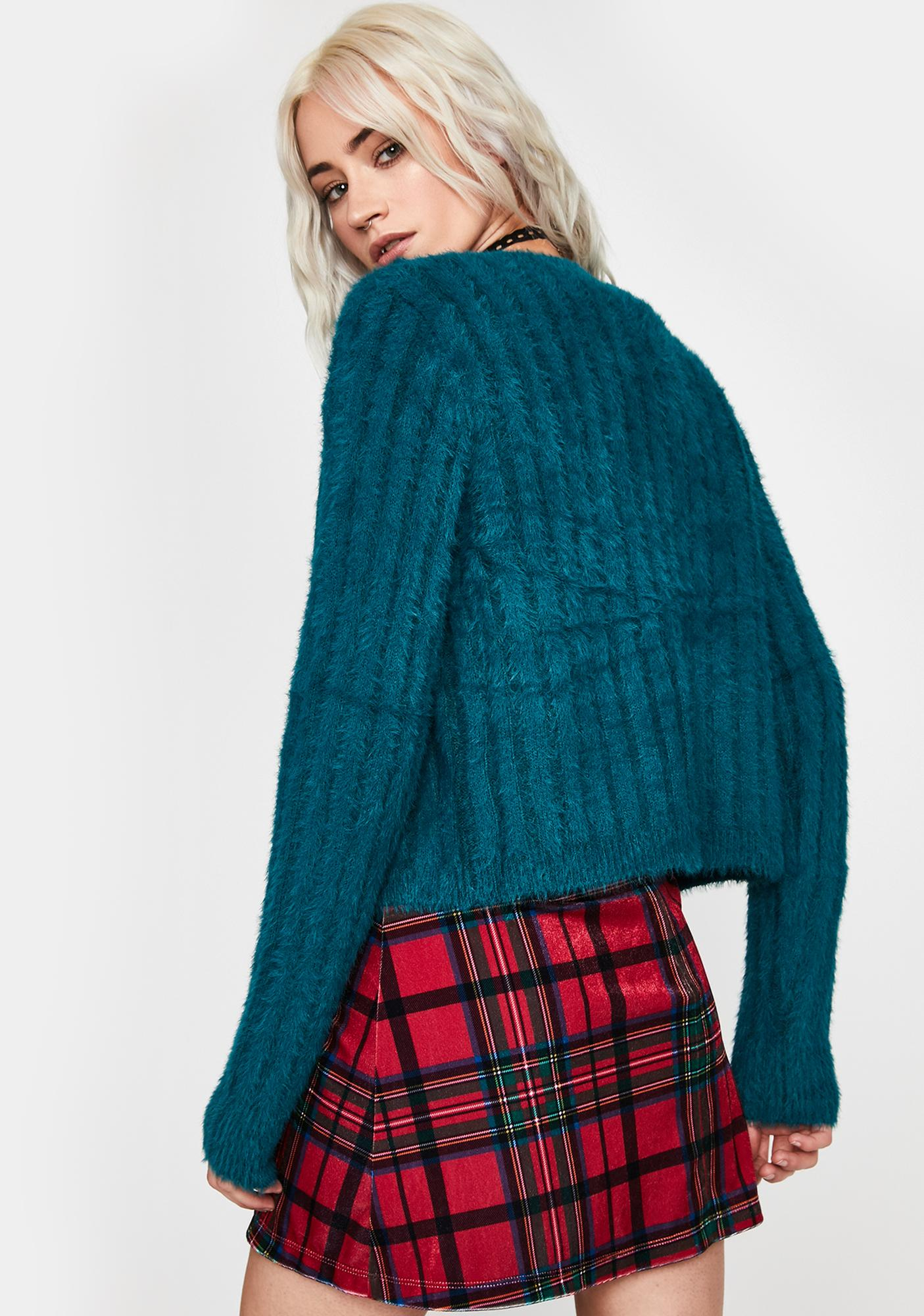 Heartly Yours Fuzzy Cardigan
