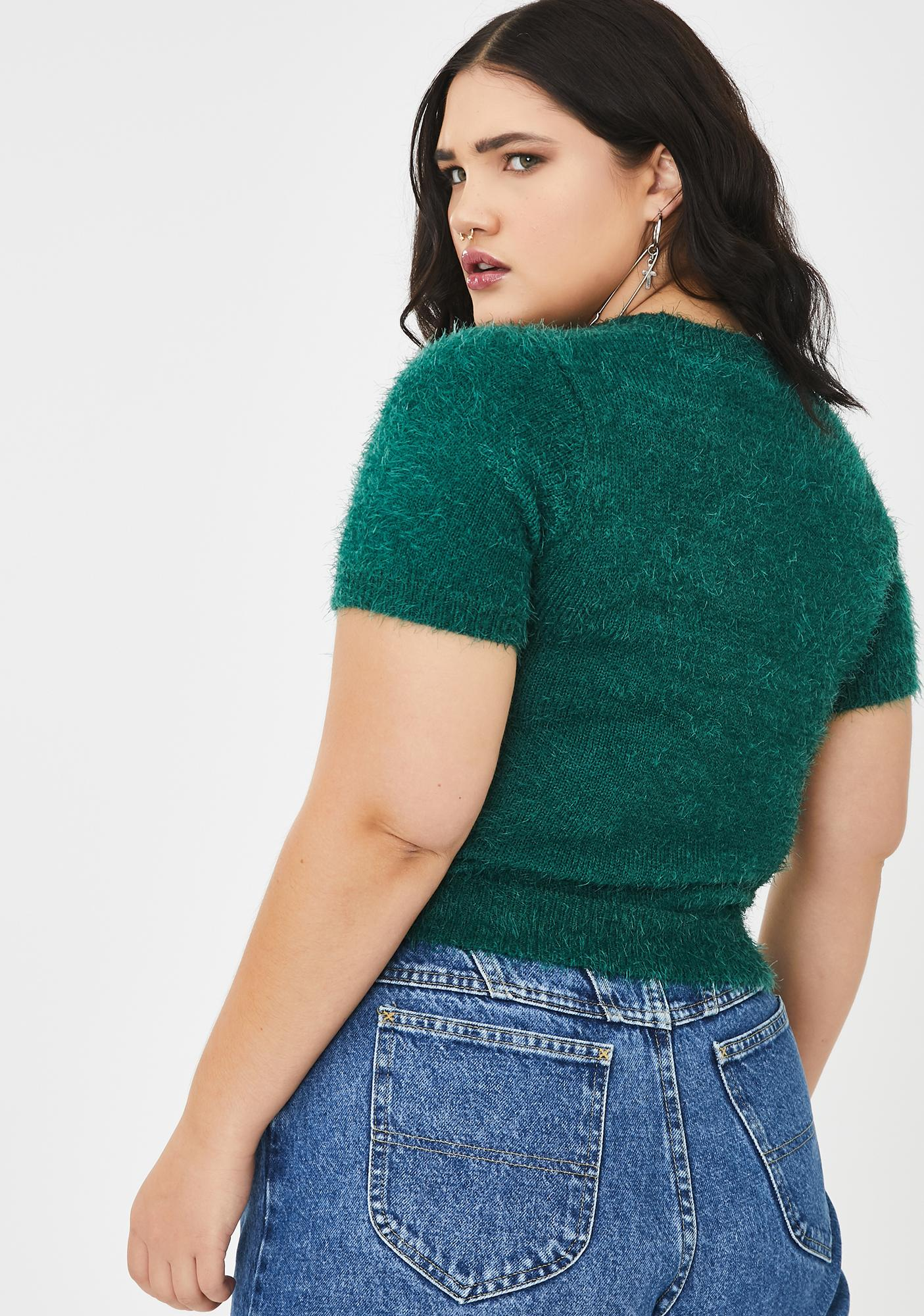 Current Mood Total Teacher's Pet Fuzzy Sweater