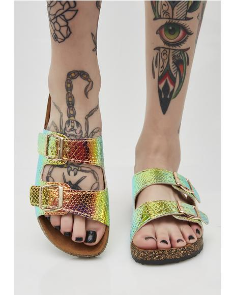 Painless Bite Hologram Sandals