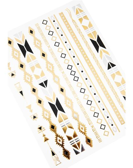 Arm Candy Metallic Tattoo Set