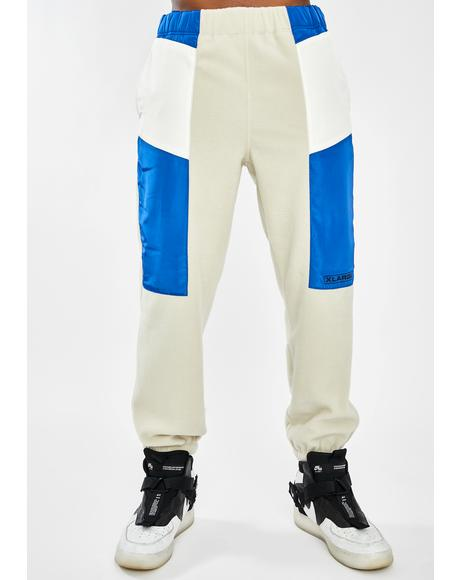 White Multi Paneled Easy Pants