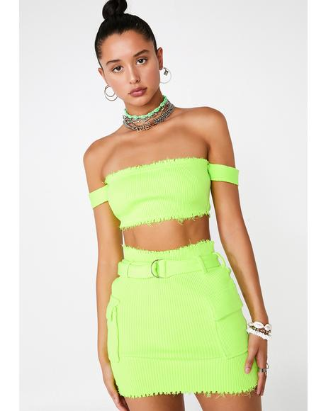 c21749c9e Lime Clap Back Queen Skirt Set ...