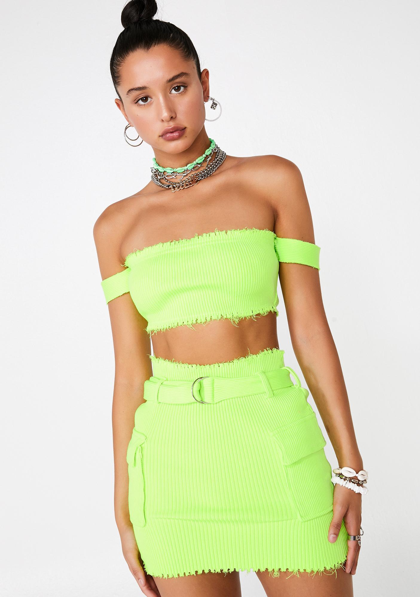 418fe2418af Cargo Sweater Crop Top Mini Skirt Set Green | Dolls Kill