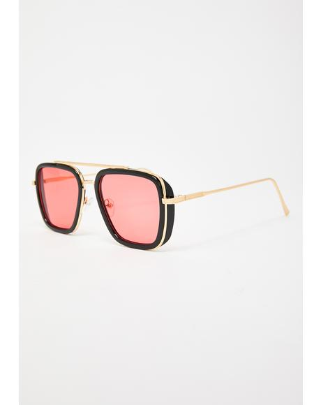 Diva Demise Square Sunglasses
