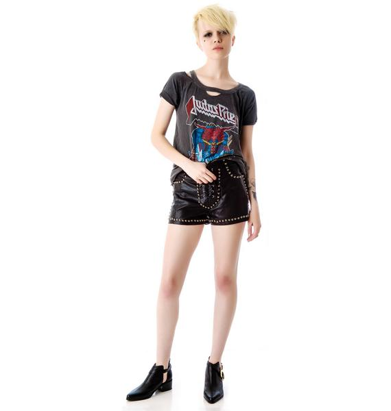 Evil Twin Wild Times Studded Lace Up Shorts