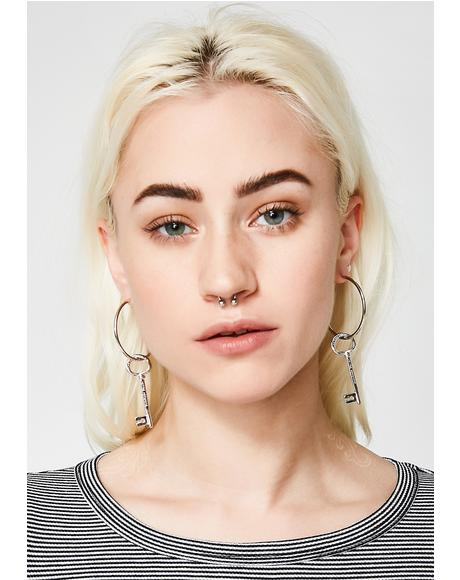 Keys To My Love Earrings