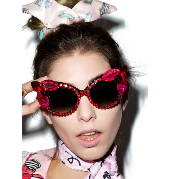 Her Tiny Teeth Magenta Sunglasses