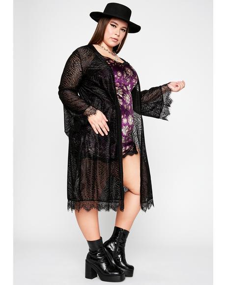 She's Miss Wild Sheer Kimono