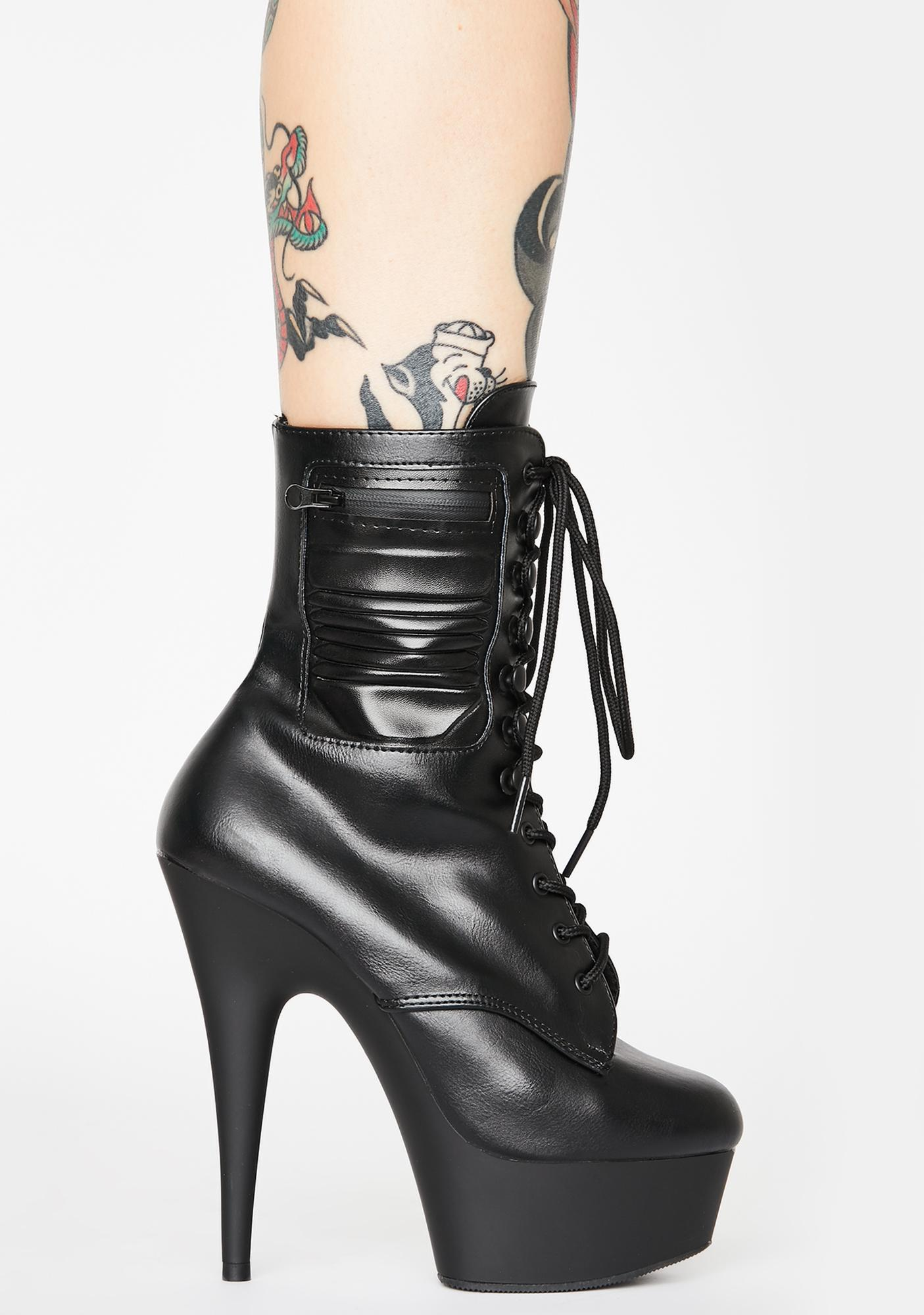 Pleaser Hot Recruit Stiletto Boots