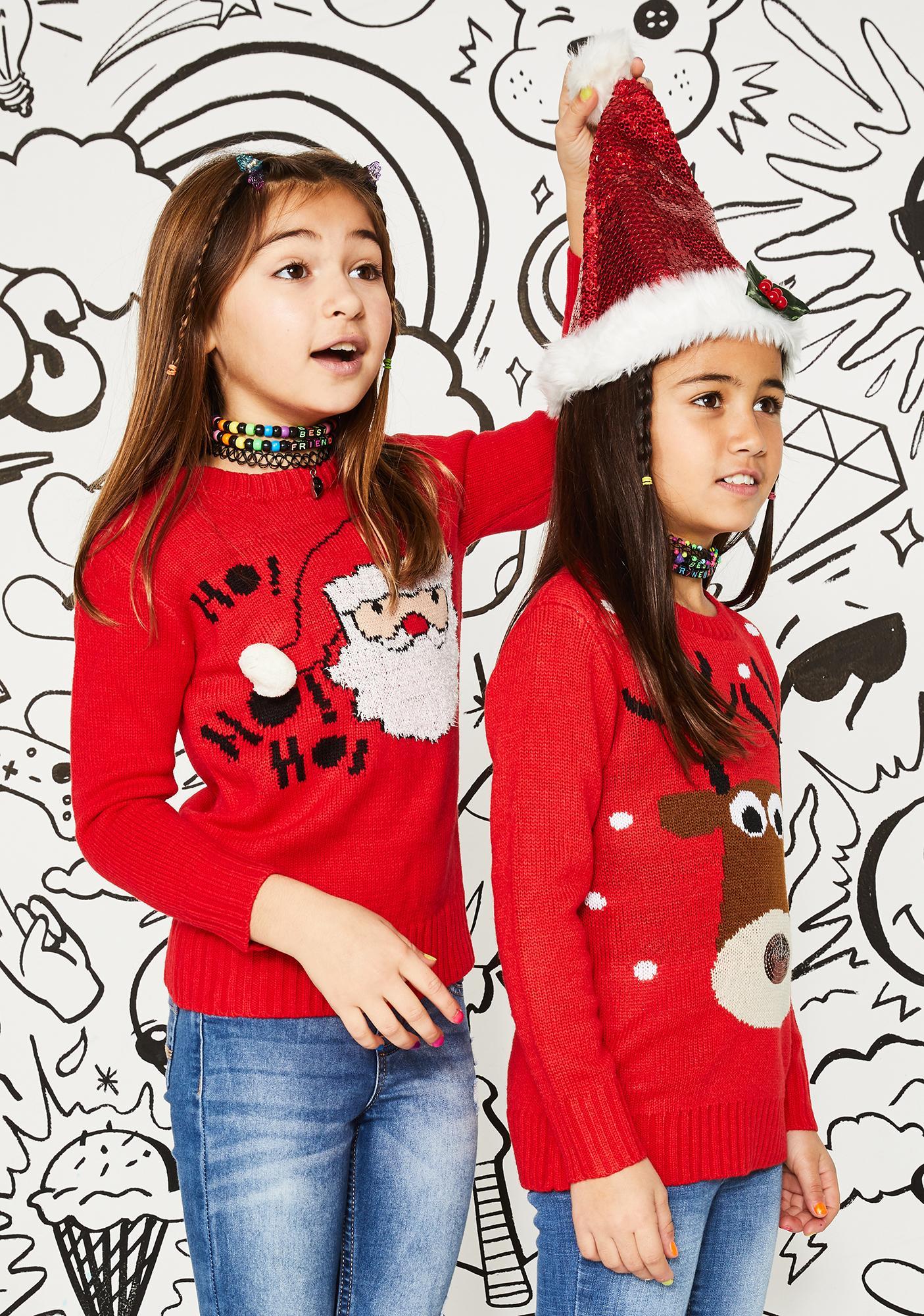 Kids Santa Sparkle Sequin Hat