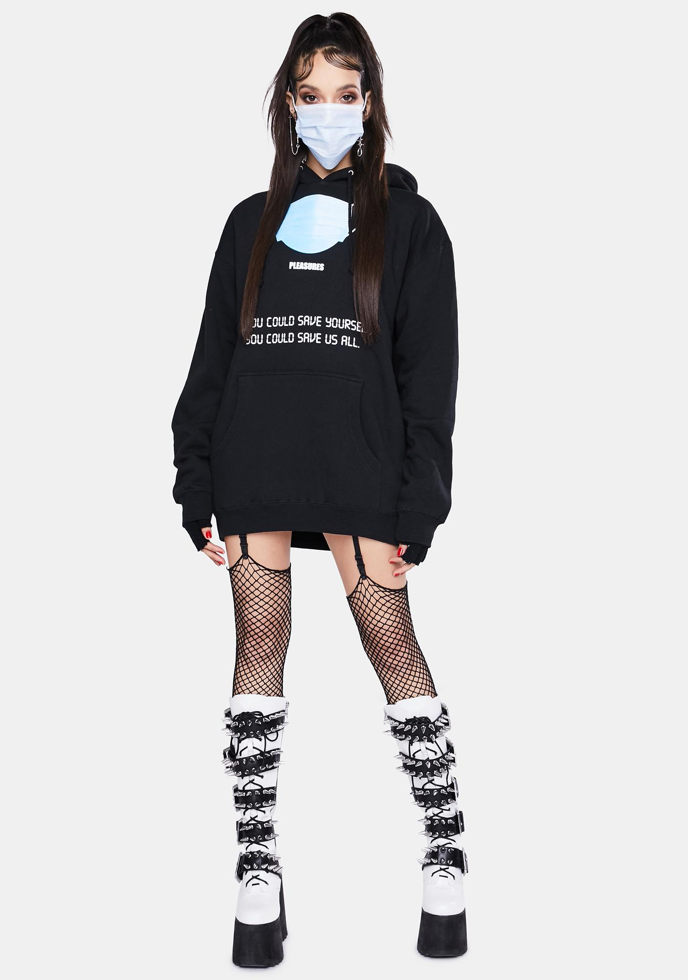 Pleasures Save Yourself Graphic Hoodie