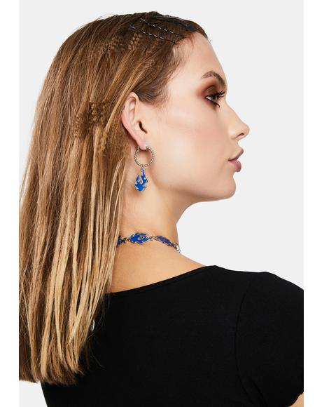 Blaze It Hoop Earrings