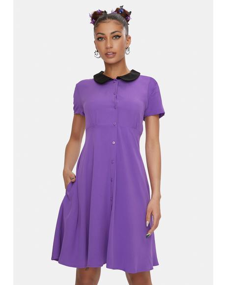 Purple Stop It Mini Dress