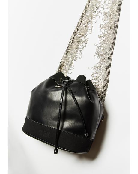 High Class Holdup Rhinestone Fringe Bag