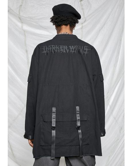 Synth Unisex Washed Utility Jacket