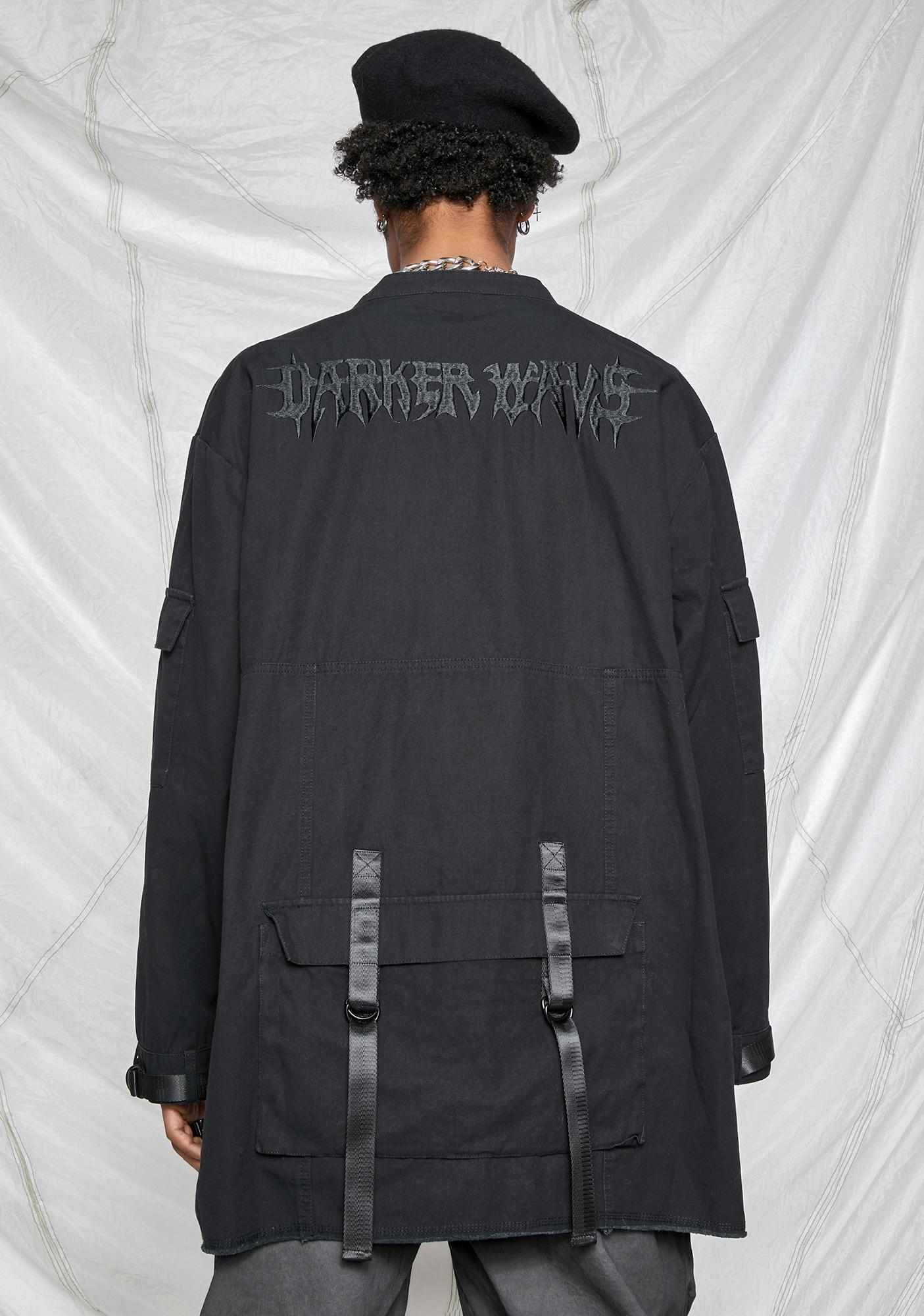 DARKER WAVS Synth Unisex Washed Utility Jacket