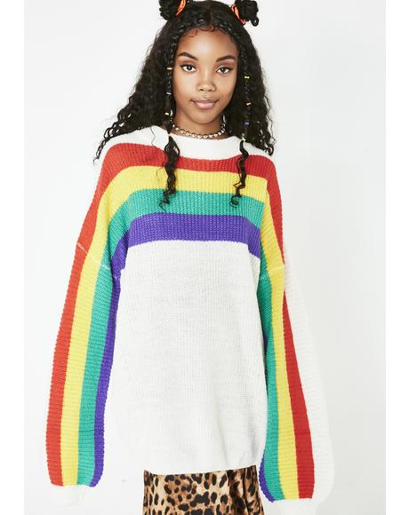 Whole Mood Rainbow Sweater