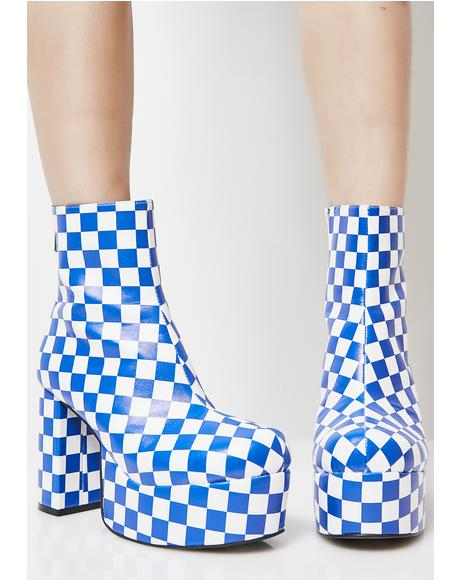 Cobalt One Step Beyond Platform Booties