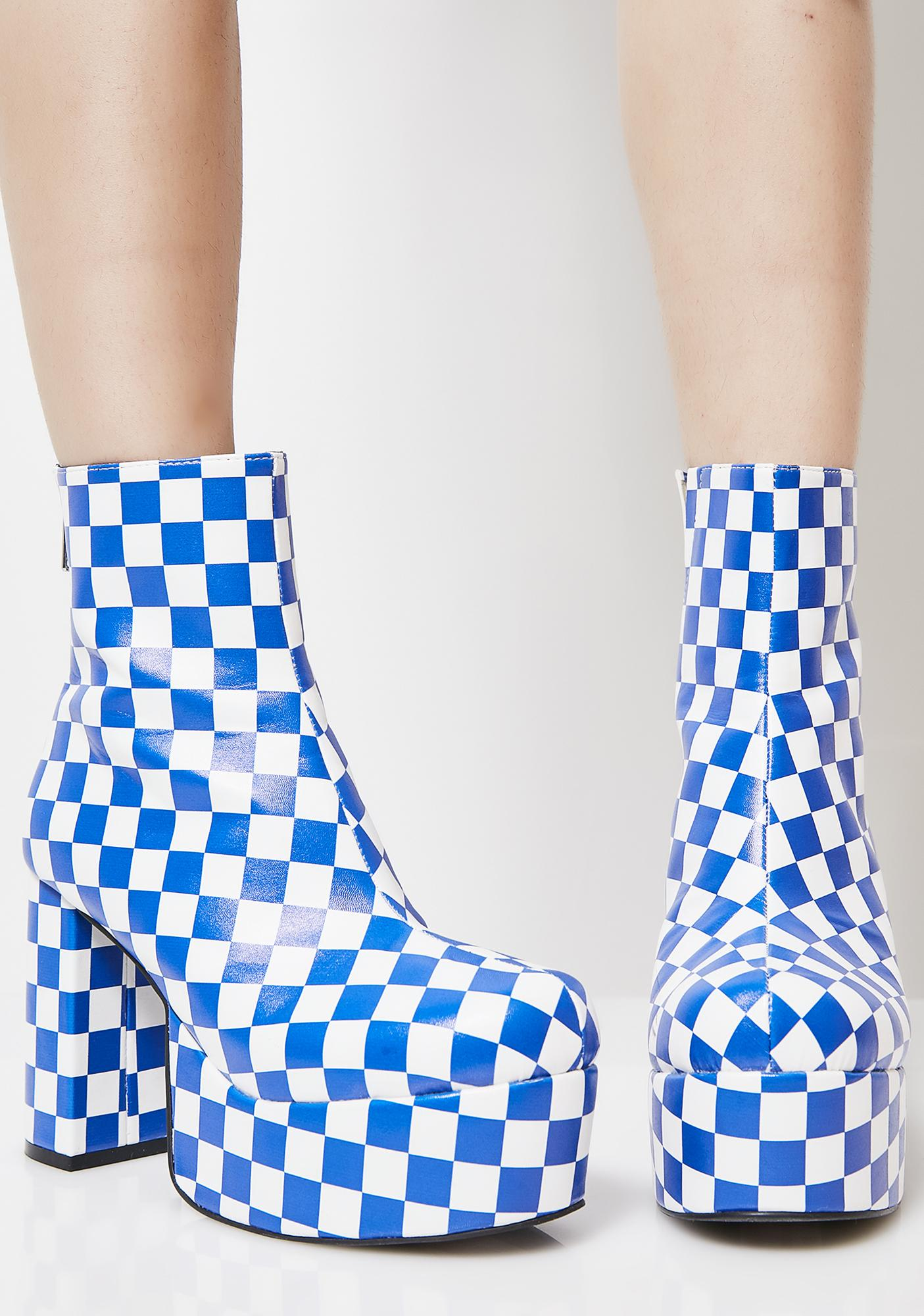 Current Mood Cobalt One Step Beyond Platform Booties