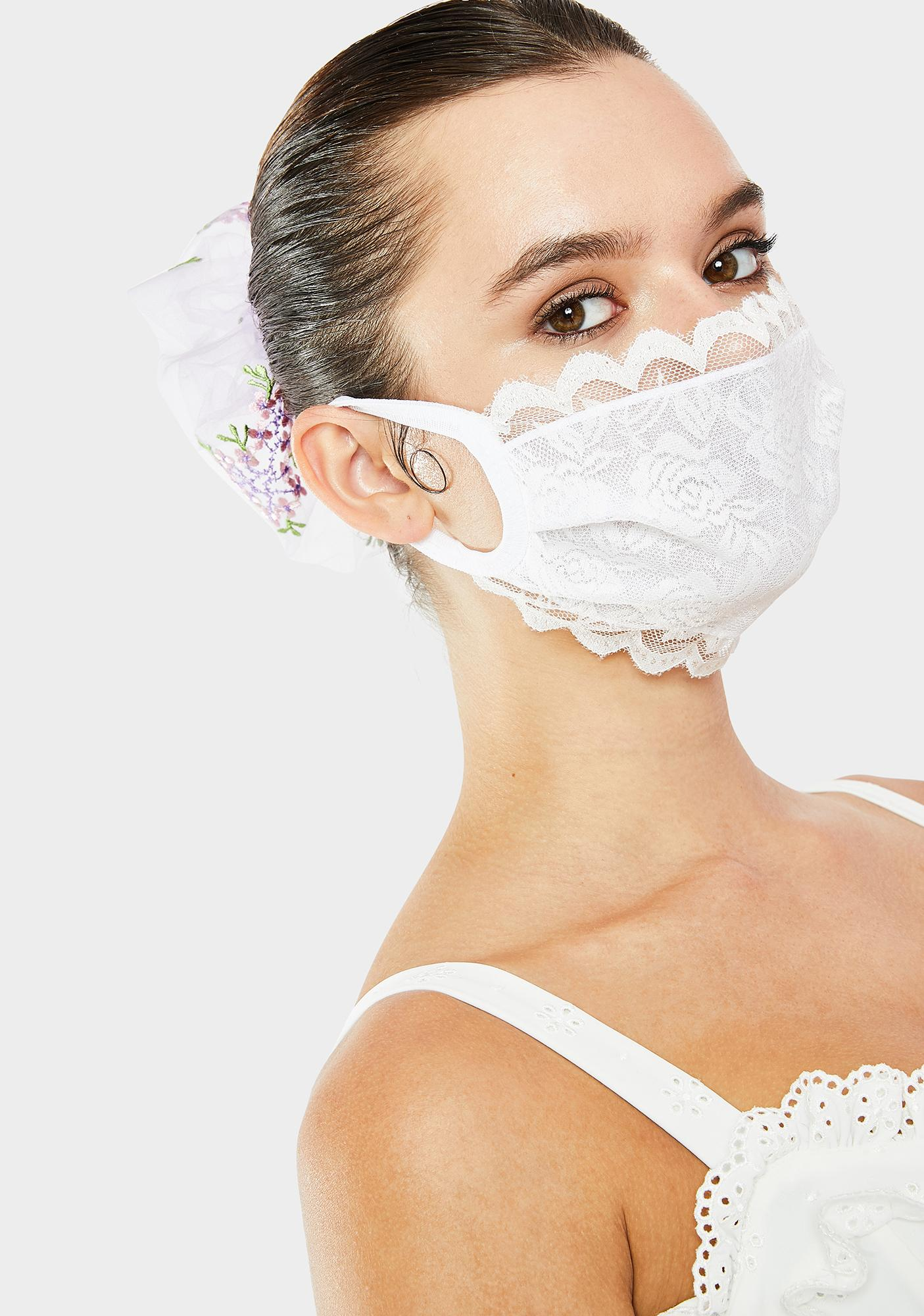 Promise To Care Lace Face Mask