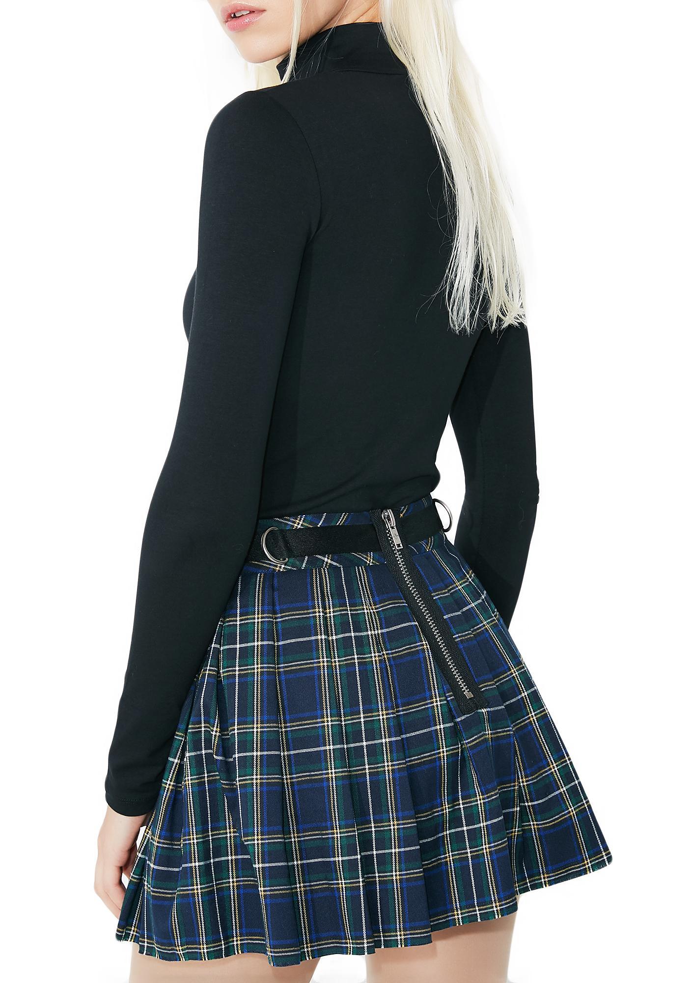 Current Mood Dress Code Plaid Skirt
