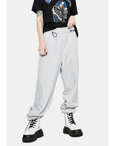 Gray Basic Logo Sports Pants