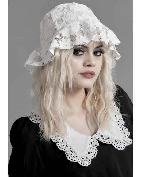 Pure Nocturne Lace Bucket Hat