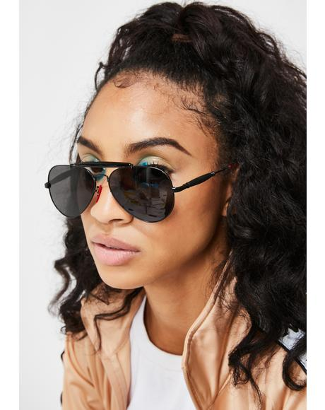 On The Downlow Aviator Sunglasses