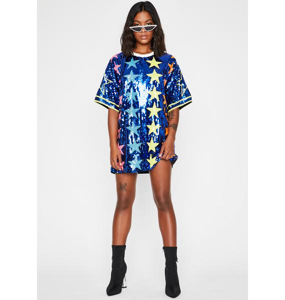 Royal Starlight Starbright Sequin T-Shirt Dress
