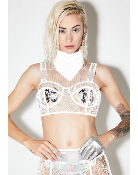 High Tech Reflective Bra Top