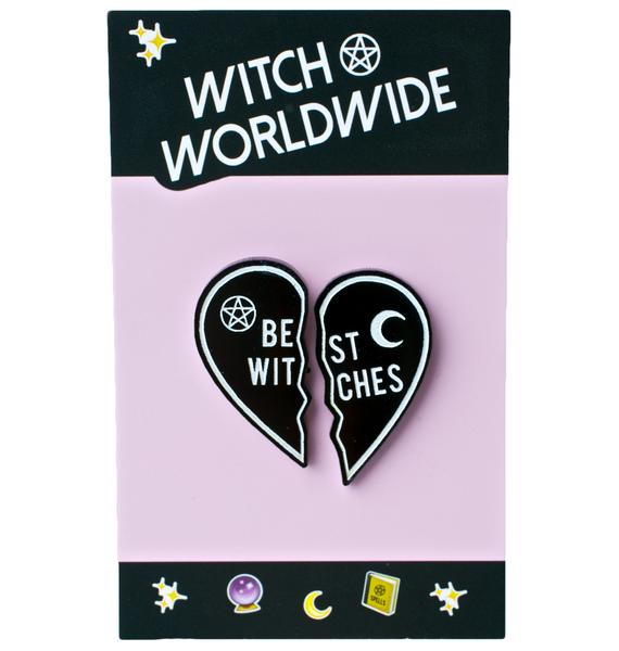 Witch Worldwide Best Witches Pin Set