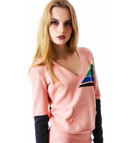 Day By Day Venetian V-Neck Pullover Hoodie