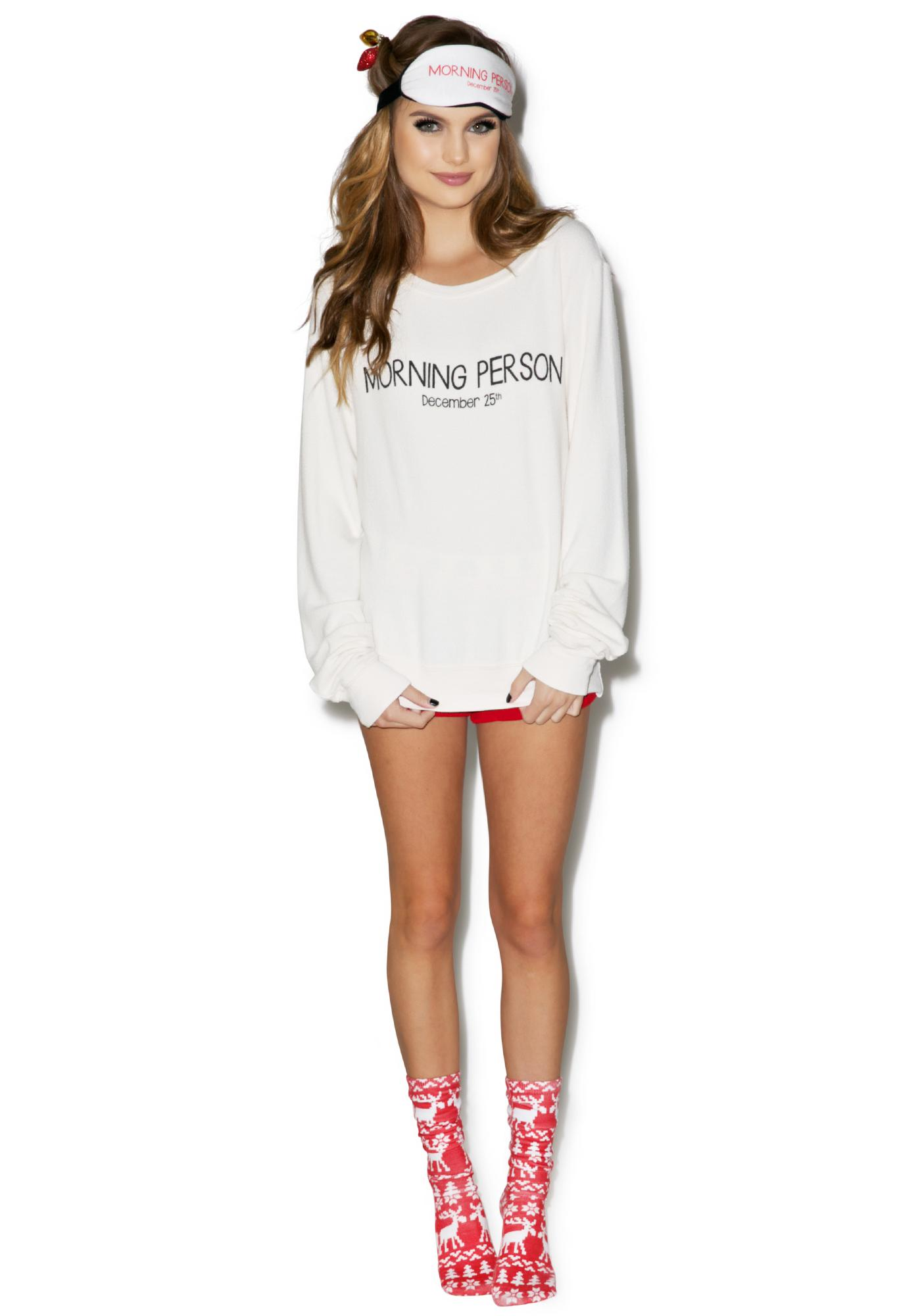 Wildfox Couture Morning Person Baggy Beach Jumper
