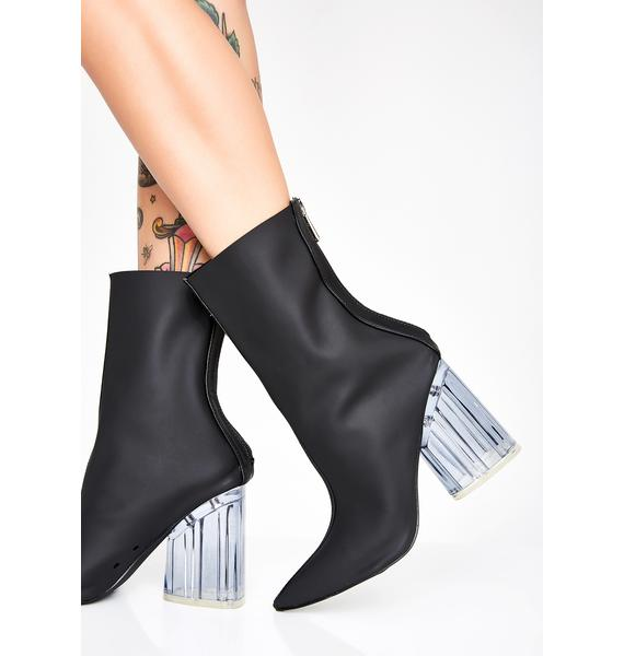 Midnight Right Through You Ankle Boots