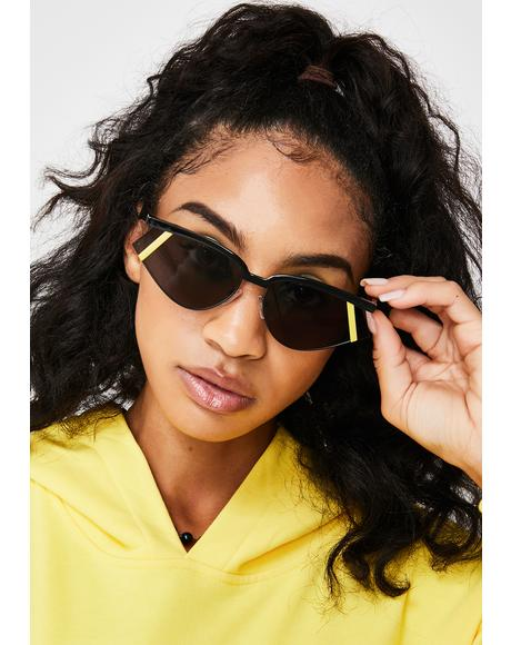 Hata Blockas On Sporty Sunglasses
