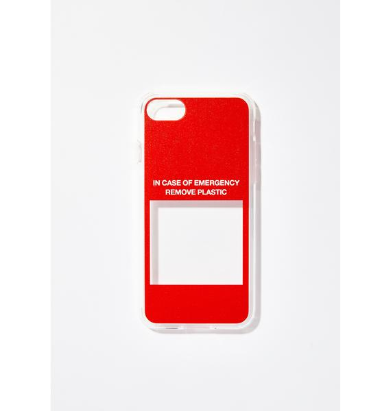 Urban Sophistication In Case Of Emergency iPhone Case
