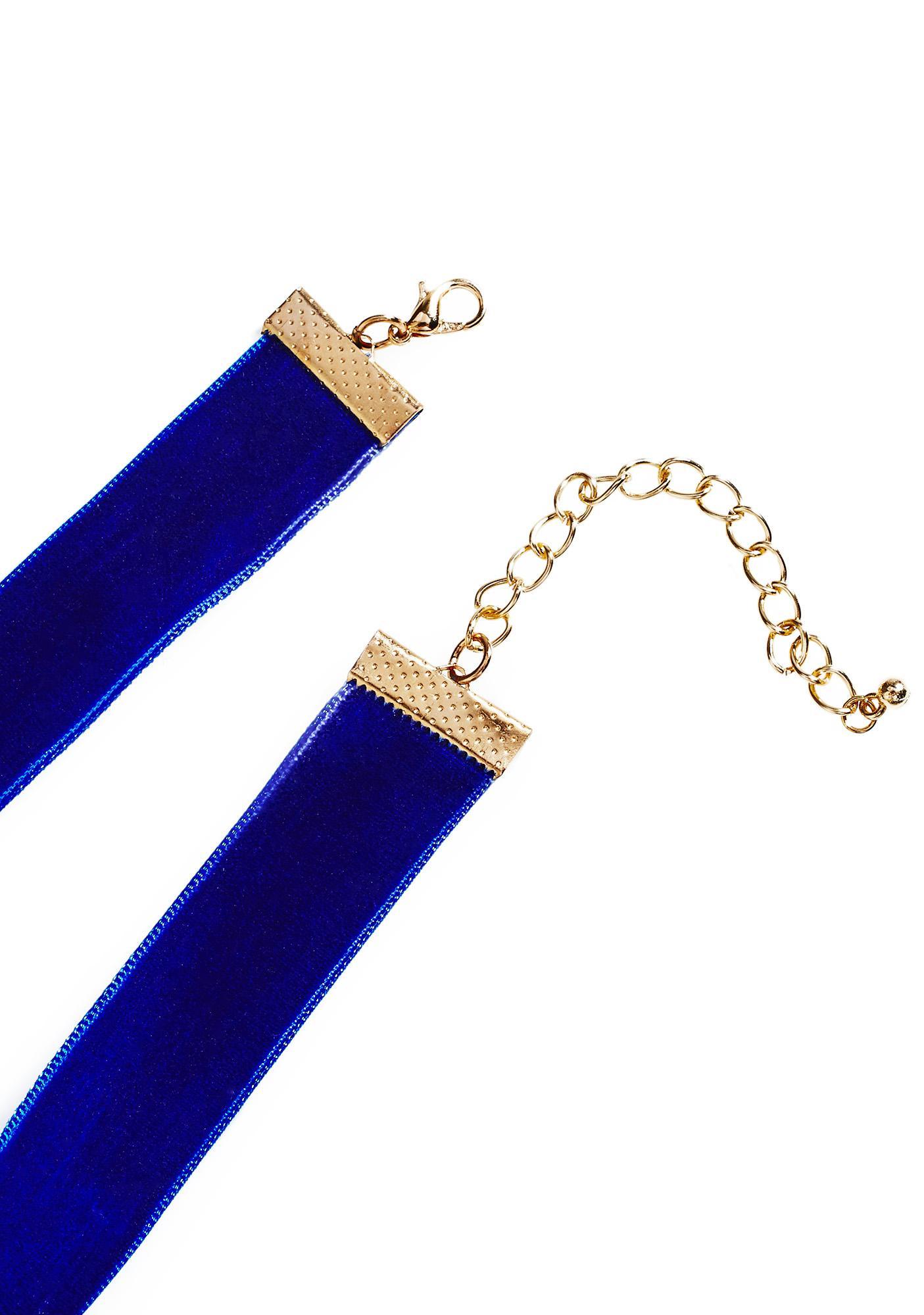 Blue Velvet Choker