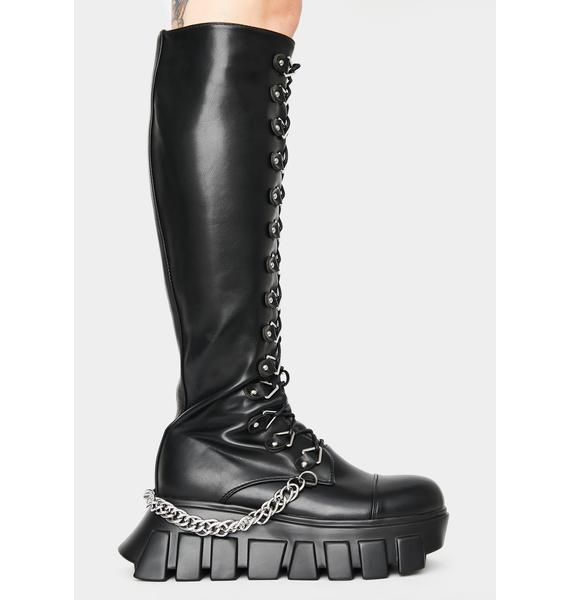 Lamoda Hatin On Me Knee High Boots