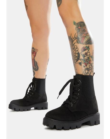 Goin' Places Combat Boots