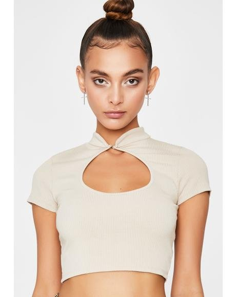 Natural Nonstop Shade Cut Out Top
